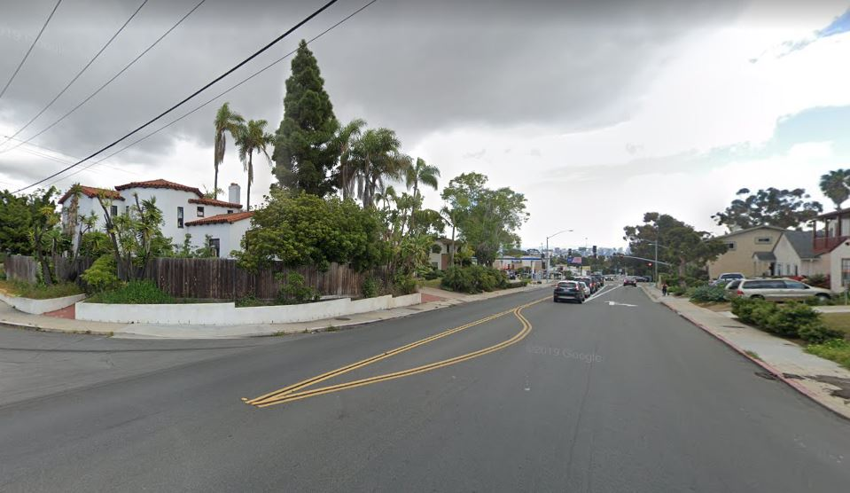 Name:  San Diego race circuit . Climbing on Chatsworth from Rosecrans.JPG
