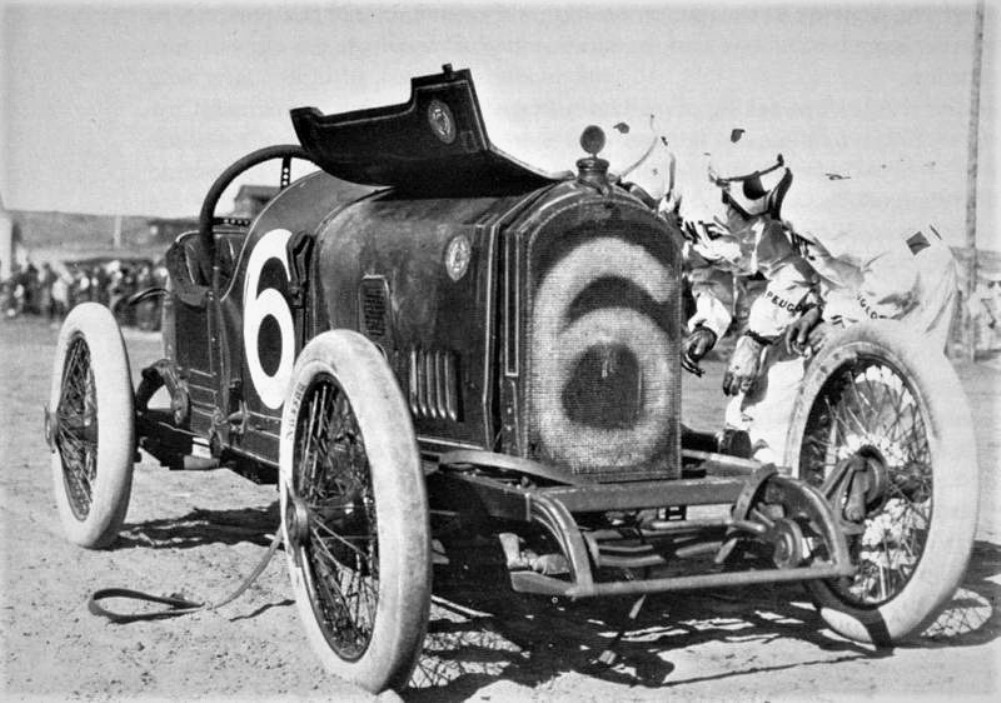 Name:  1915. # 6 Peugeot with a blown engine.jpg