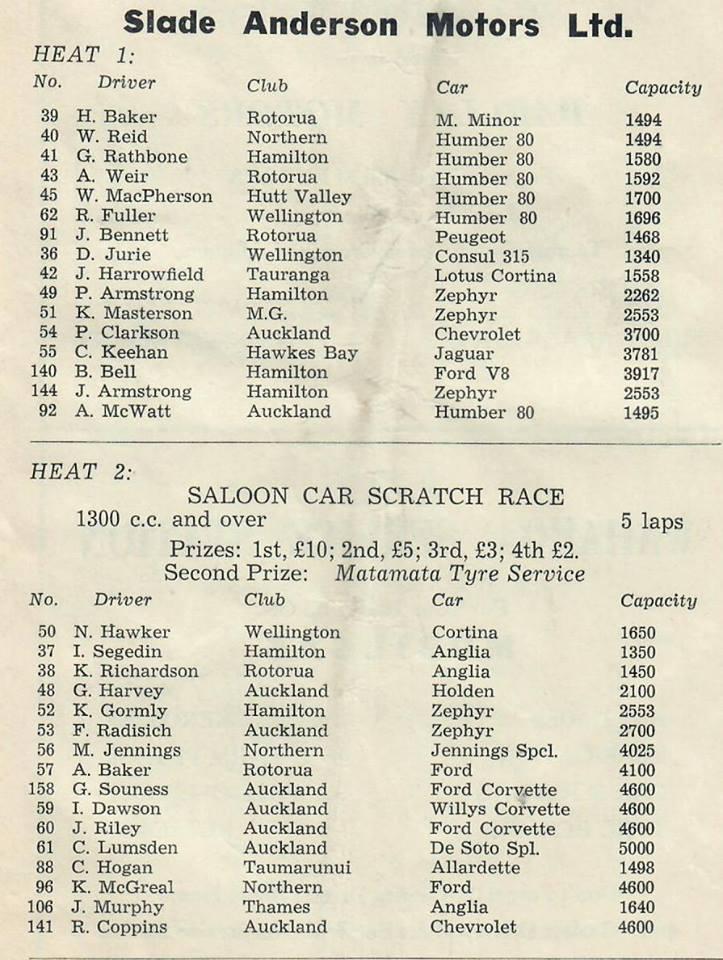 Name:  Matamata 1964 #16 1964 Entry list Saloons Heat 1 and 2 G Woods  (2).jpg Views: 176 Size:  119.9 KB