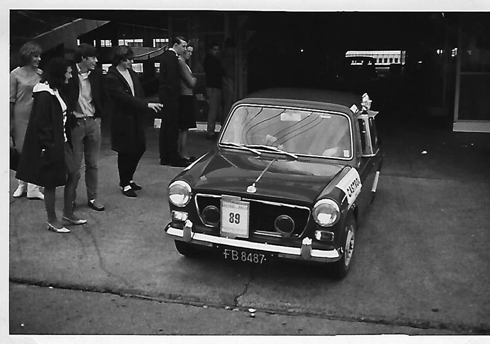 Name:  NSCC 1965 #30 Castrol Rally 1965 Auckland start Farmers Car Park. Geoff Jowit (12th) John L Lawt.jpg