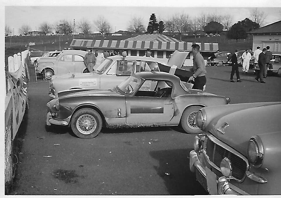Name:  NSCC 1965 #37 Castrol Rally 1965 At the finish after a few laps of the circuit John L Lawton .jpg