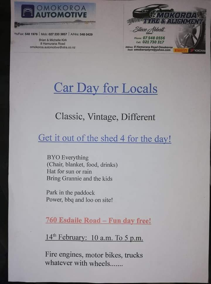 Name:  C and C 2021 #101 Car Day Pahoia 14 Feb 2021 poster S Abbot B Kirk .jpg Views: 82 Size:  50.5 KB