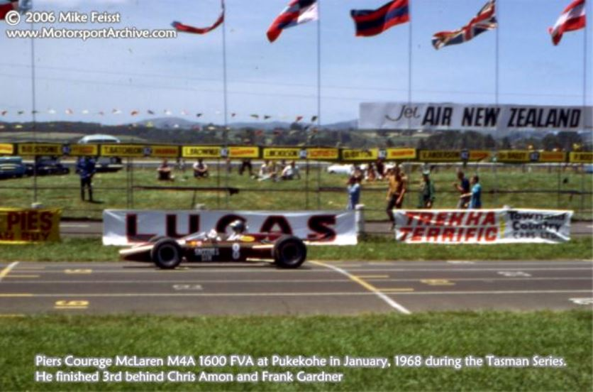 Name:  Piers Courage McLaren M4A FVA Pukekohe Jan 1968. (Mike Feisst photo ).jpg Views: 232 Size:  70.0 KB