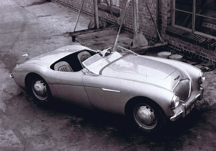 Name:  AH 100 #081 Healey 100 1952 DMH prototype steel wheels AH Historic Pictures .jpg