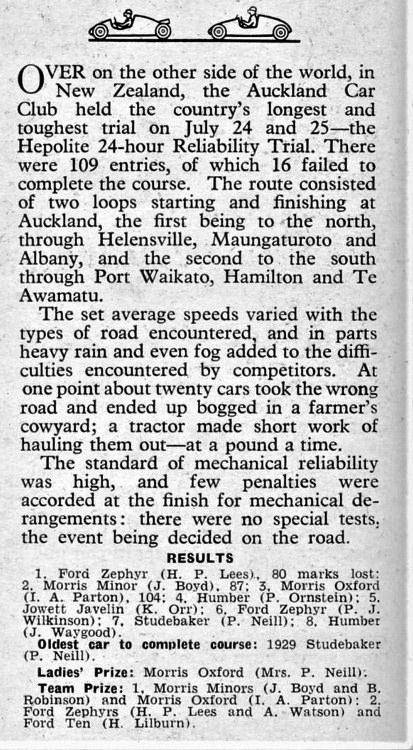 Name:  NSCC 1954 #212 ACC Autocar 27 Aug report Auckland Car Club Jul 1954 Hepolite 24-hour Trial M Fis.jpg Views: 69 Size:  173.7 KB