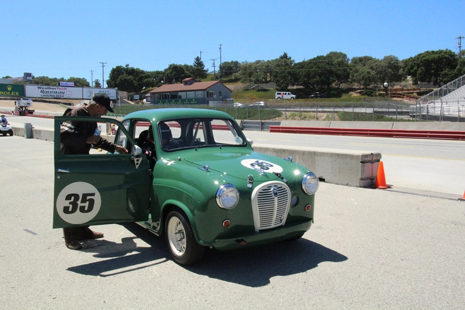 Name:  Monterey 2019 #25 Austin A35 pits Terry Cowan .jpg