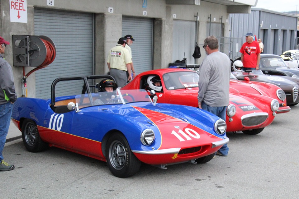 Name:  Monterey 2019 #37 Elva and AH Sprite PMO200 in pits Terry Cowan.jpg Views: 134 Size:  167.3 KB